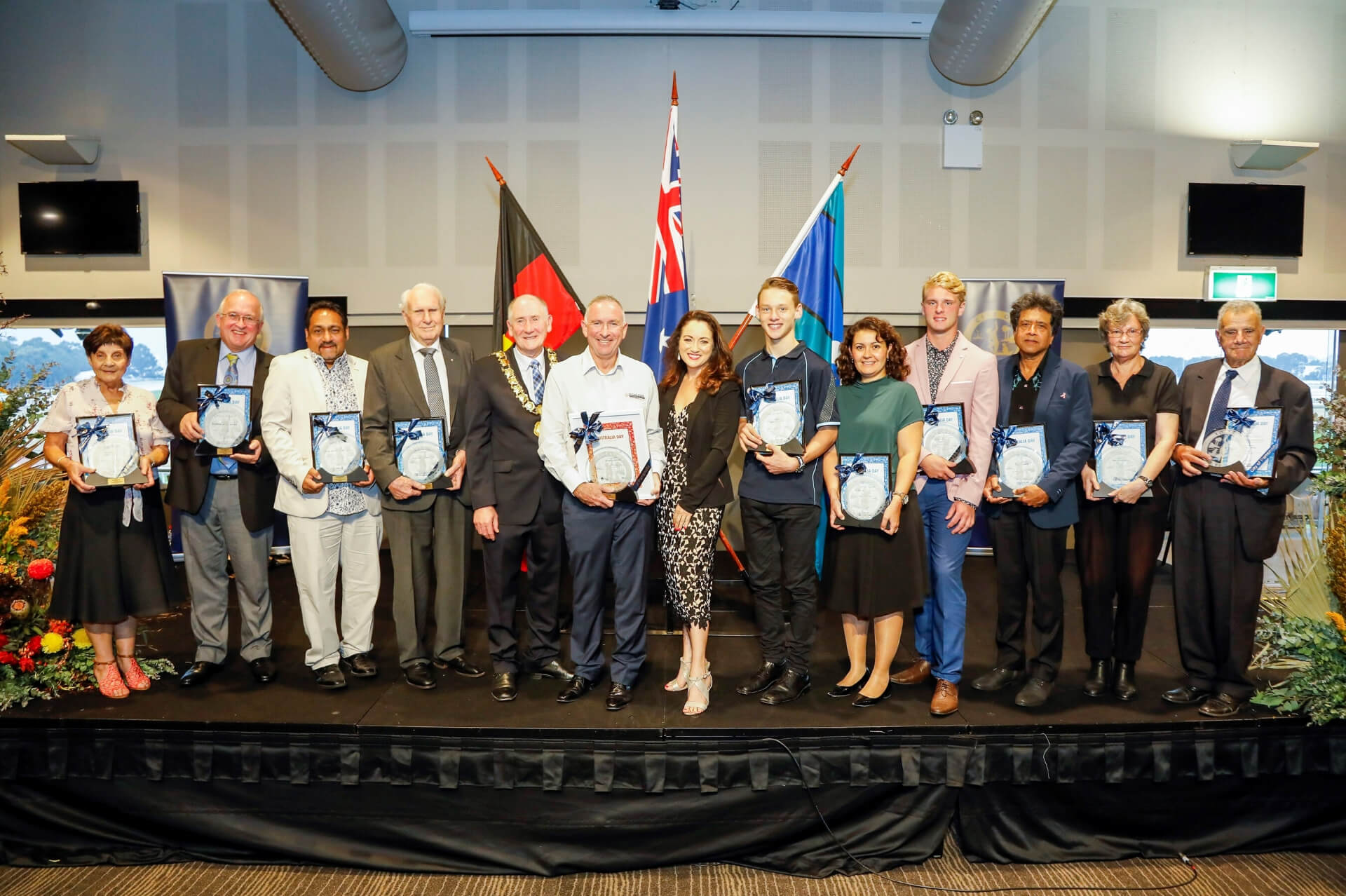 City of Parramatta Lord Mayor Cr Bob Dwyer with the 2020 Australia Day Local Award recipients.