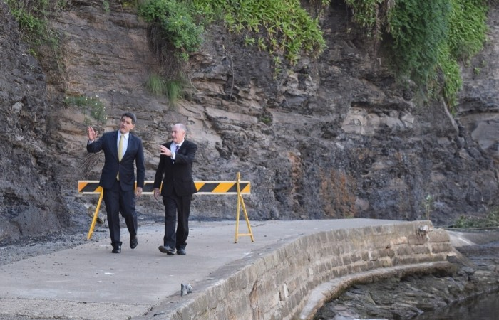 Lord Mayor and Member for Parramatta Geoff Lee at Parramatta Quay