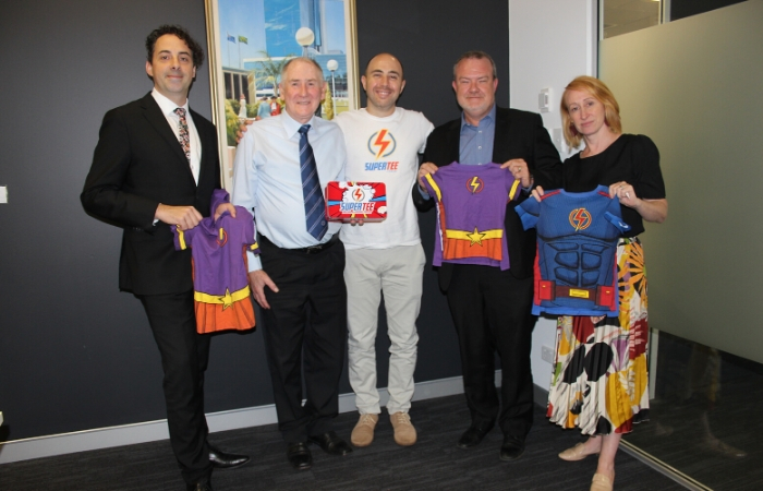 Lord Mayor at the Supertees event