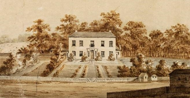 Government House Parramatta, 1805. Painting by George William Evans. Source: Mitchell Library, State Library of NSW