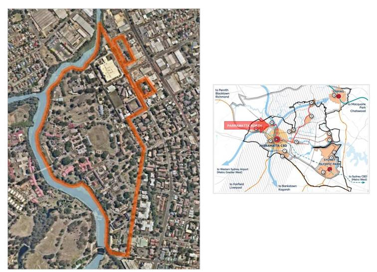 Parramatta North Precinct Planning Map