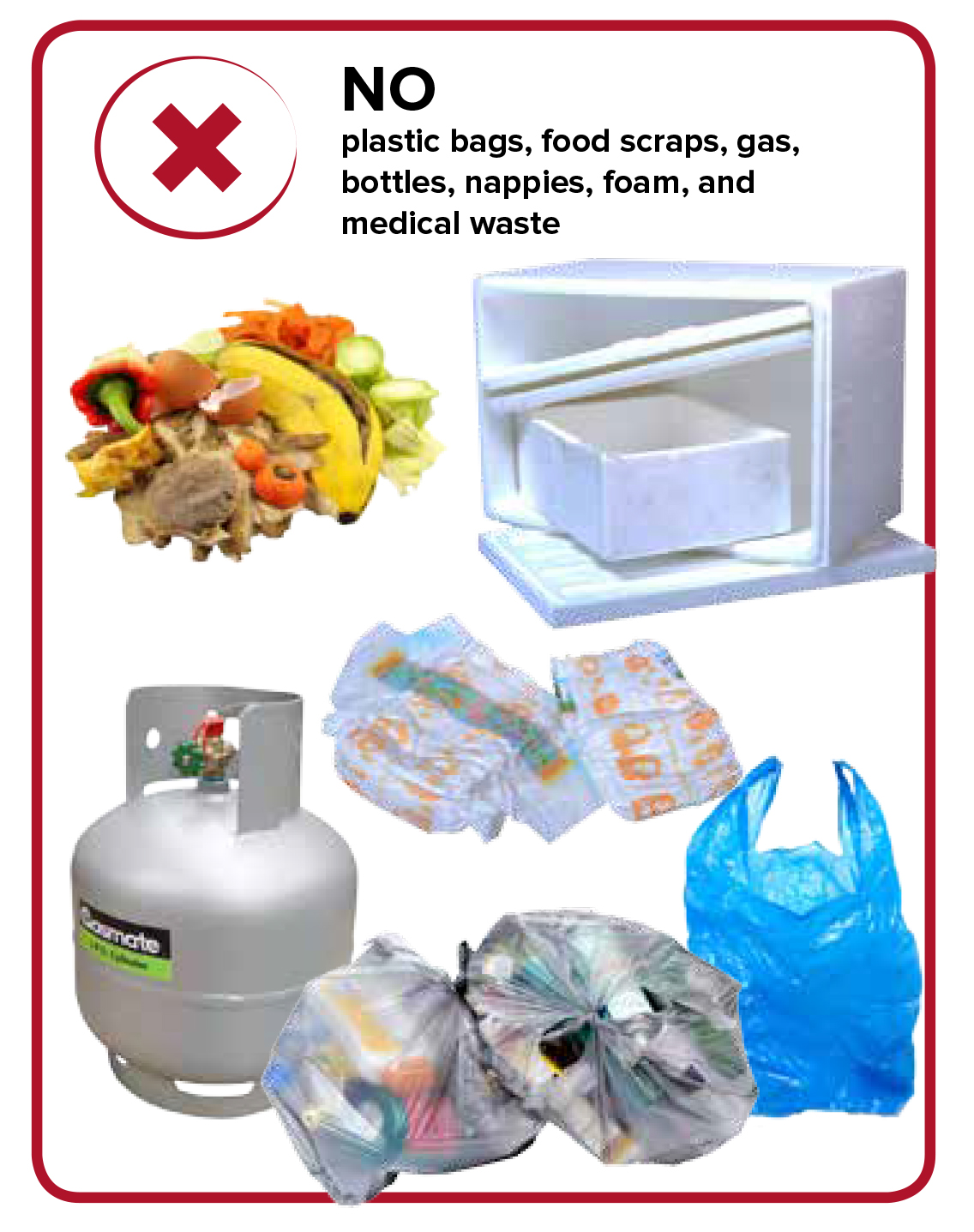 City of Parramatta Recycling Items Non Permitted