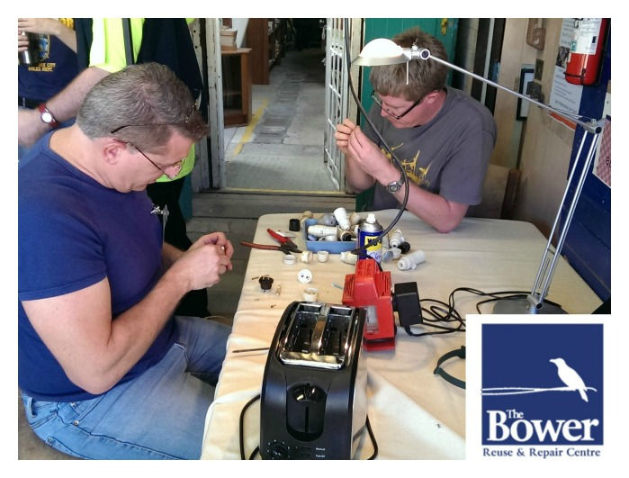 Bower Repair Cafe workers