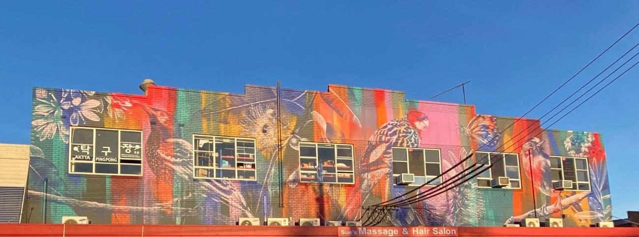 Native wildlife mural in Rydalmere