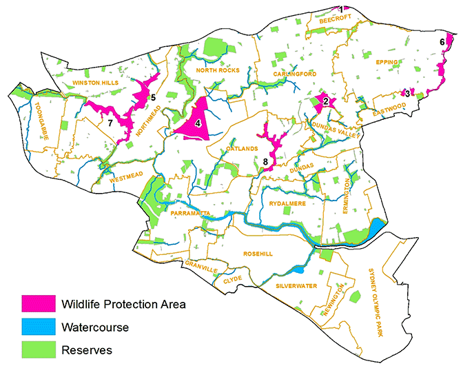 Wildlife Protection Areas Map