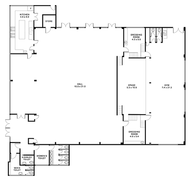 Don Moore Community Centre floor plan