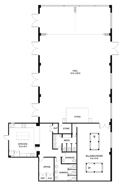Epping Leisure & Learning Centre floor plan