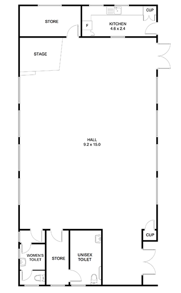 Harry Todd band Hall Floor Plan