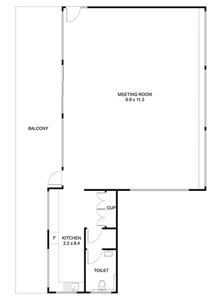 John Curtin Reserve Meeting Room floor plan