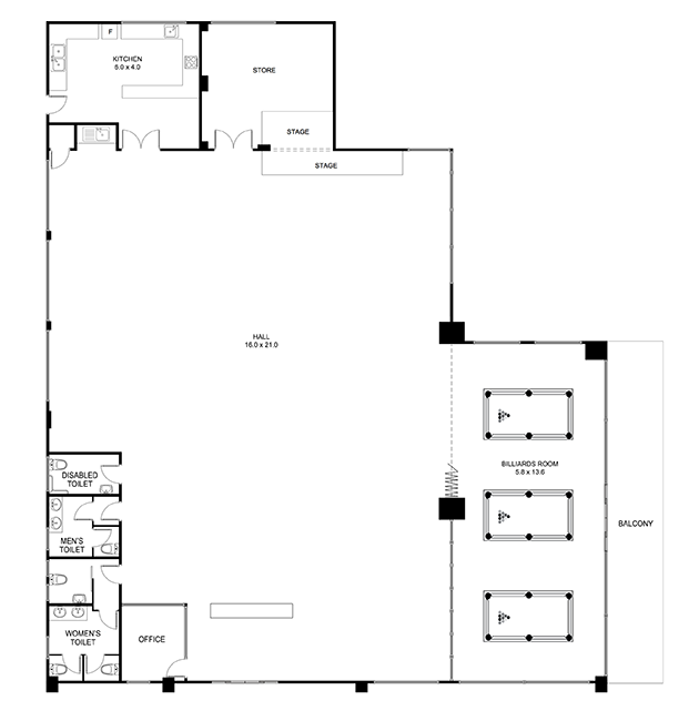 North Rocks Senior Citizen's Centre Floor Plan
