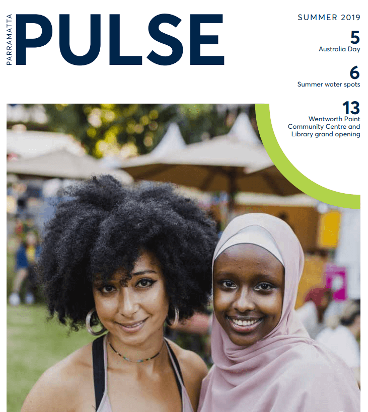 Parramatta Pulse Summer edition 2019 cover