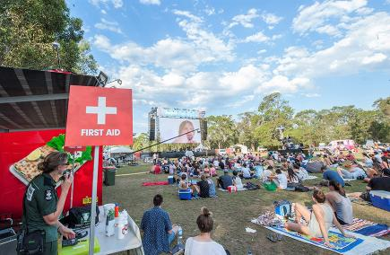 Tropfest short film festival in Parramatta Park. Photo by George Gittany Photography