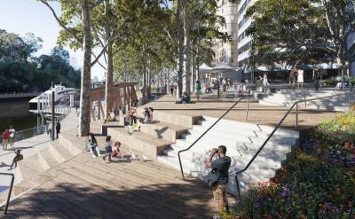 Charles St Square upgrade - an artist's impression