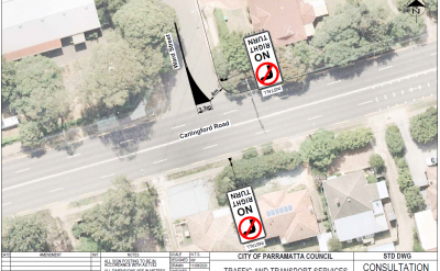 Sketch plans for the proposed traffic works in Ward street, Epping
