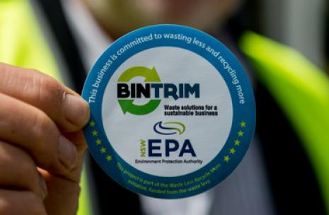 Bin Trim Badge Logo
