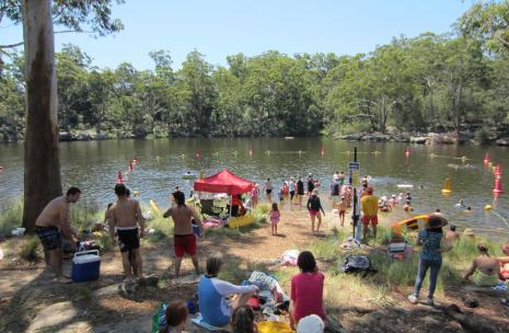 Swimmers enjoying swimming at Lake Parramatta