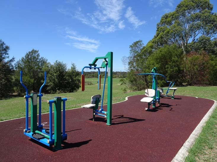 George Kendall Riverside Park Outdoor Fitness Equipment