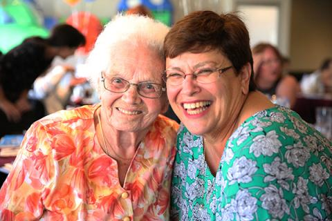 Jeanette and Annette enjoying a day out thanks to Carers Support