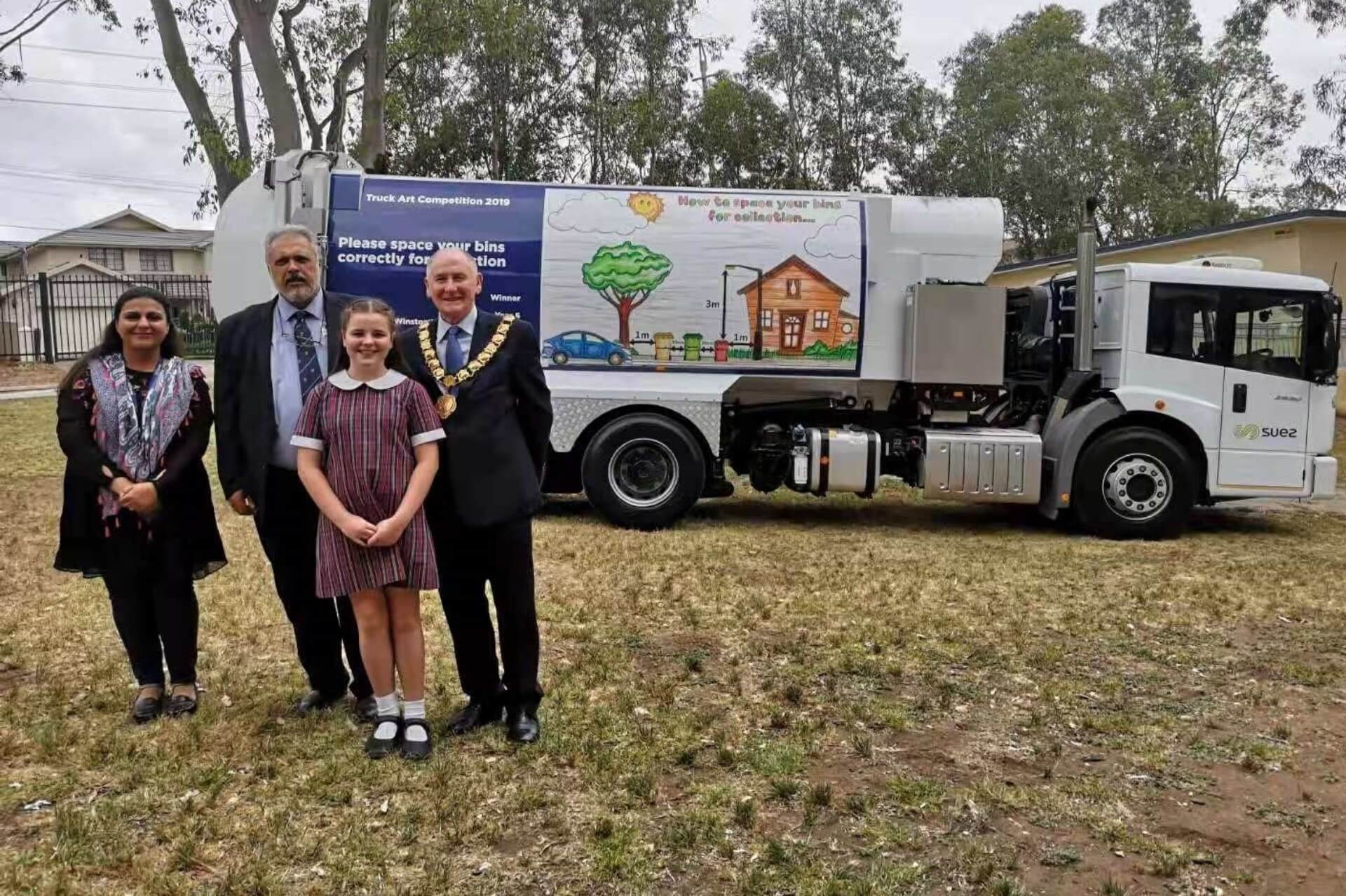 Lord Mayor with the winners of the Truck Art Competition