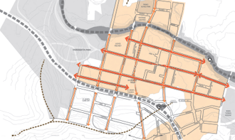 Topographical map of Parramatta City Centre
